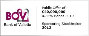 BOV 2012 Bond Issue