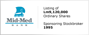 Mid-Med Bank - Listing of Lm9,1200,000 - Ordinary Shares
