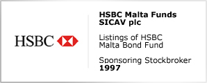 HSBC Malta Funds SICAV plc - Listings of HSBC Malta Bond Fund