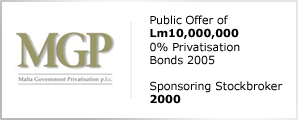 MGP - Public Offer of Lm10,000,000 - 0% Privatisation Bond 2005