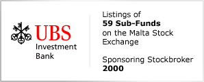 UBS Invesment Bank - Listings of 59 Sub-Funds on the Malta Stock Exchange