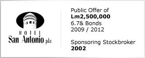 Hotel San Antonio - Public Offer of Lm2,500,000 - 6.7% Bonds 2009/12