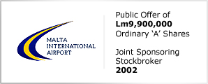 Malta International Airport - Public Offer of Lm9,900,000 - Ordinary 'A' Shares
