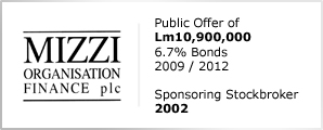 Mizzi Organistaion Finance plc - Public Offer of Lm10,900,000 - 6.7% Bonds
