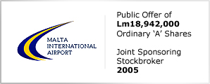 Malta International Airport - Public Offer of Lm18,942,000 - Ordinary 'A' Shares