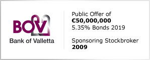 BOV - Public Offer of €50,000,000 - 5.35% Bonds 2019