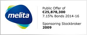 Melita plc - Public Offer of €25,878,300 - 7.15% Bonds 2014-16