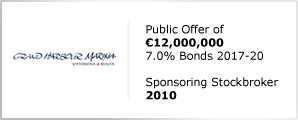 Grand Harbour Marina - Public Offer of €12,000,000 - 7.0% Bonds 2017-20