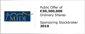 MIDI plc - Public Offer of €30,300,000 - Ordinary Shares