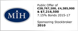 Public Offer of €28,767,200, £4,385,900 & $7,216,500 - 7.15% Bonds 2015-17