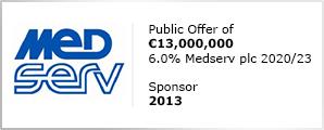 Medserv plc - Sponsor 2013