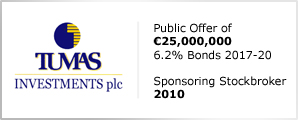 Tumas Investments plc - Public Offer of €25,000,000 - 6.2% Bonds 2017-20