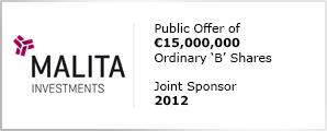 Malita Investments plc IPO