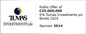 Public Offer of €25,000,000 5% Tumas Investments plc Bonds 2024 Sponsor 2014